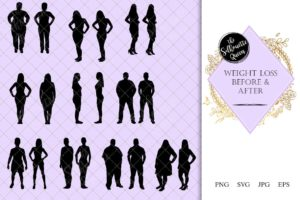 Weightloss Before and After Silhouette |Calories Lost