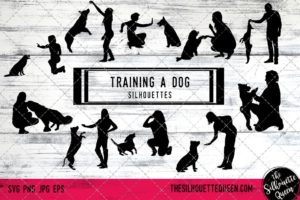 Training a  dog svg