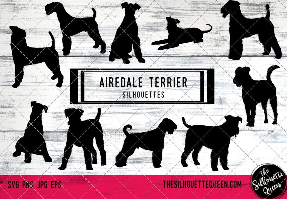 Airedale Terrier dog svg