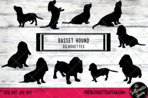 Basset Hound dog svg