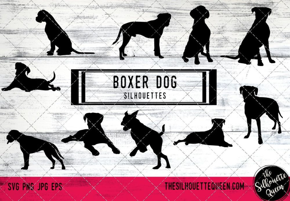 Boxer dog svg