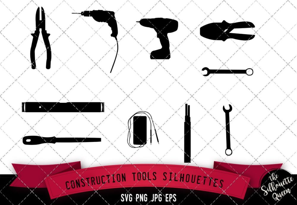 Construction Tools Silhouette