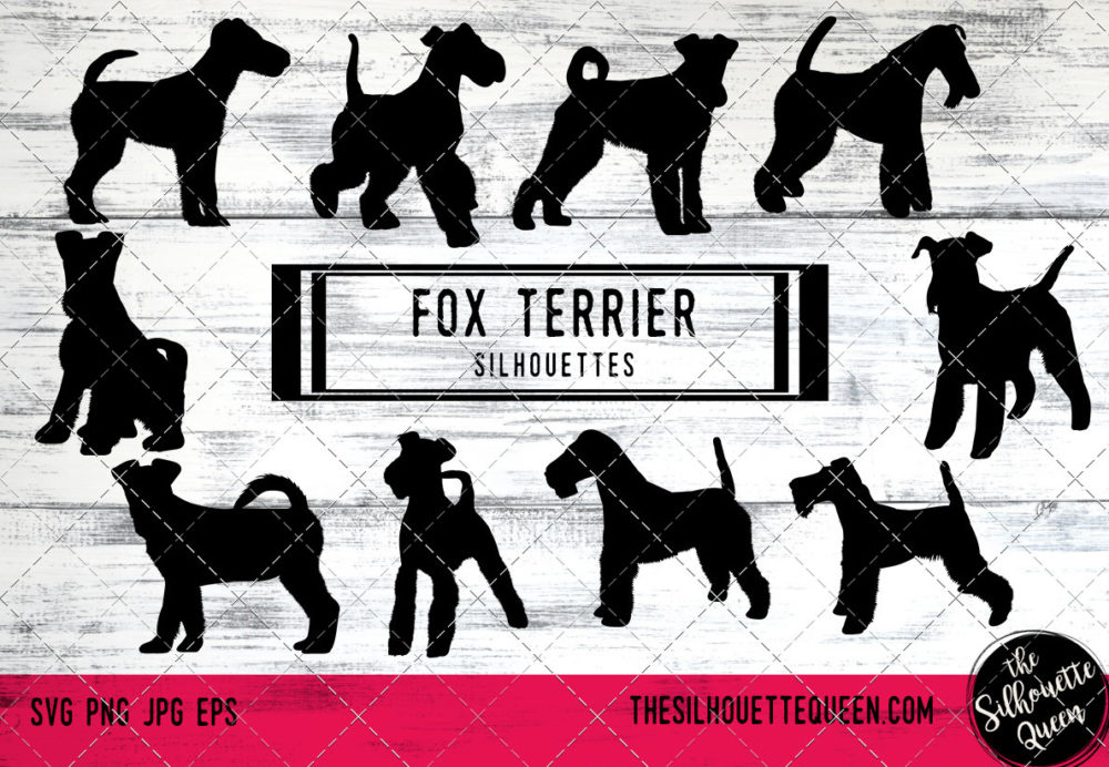 Fox Terrier dog svg