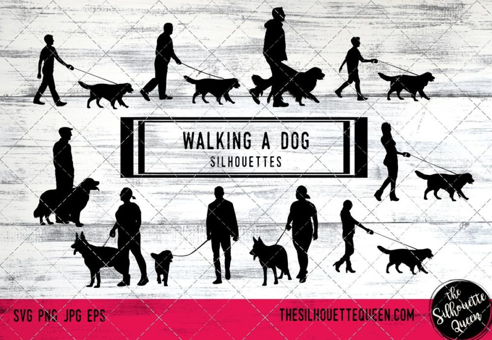 Walking a dog svg