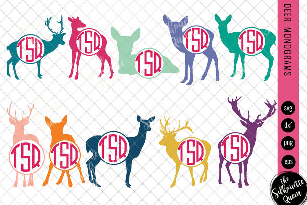 Deer Svg|Monogram Svg|Circle Frames