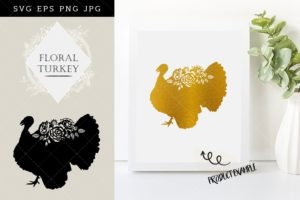 Floral Turkey SVG Files