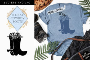 Floral Cowboy Boot SVG File - Cowgirl SVG File - Western SVG