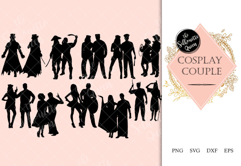 Cosplay Couples svg file