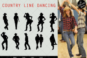 Country Line Dancing svg file