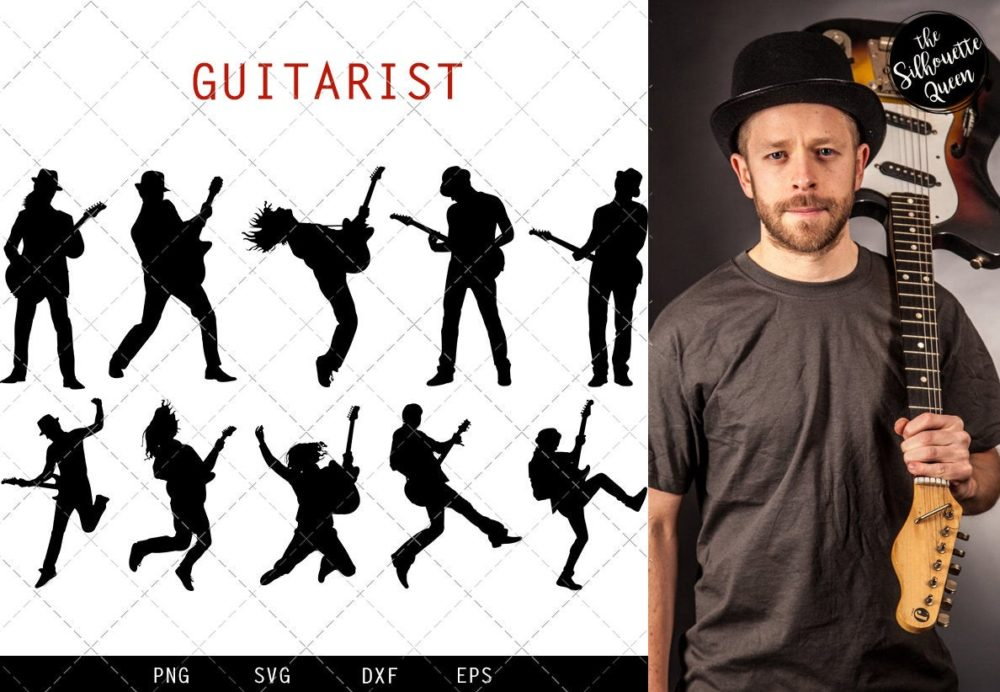 Guitar Player svg file