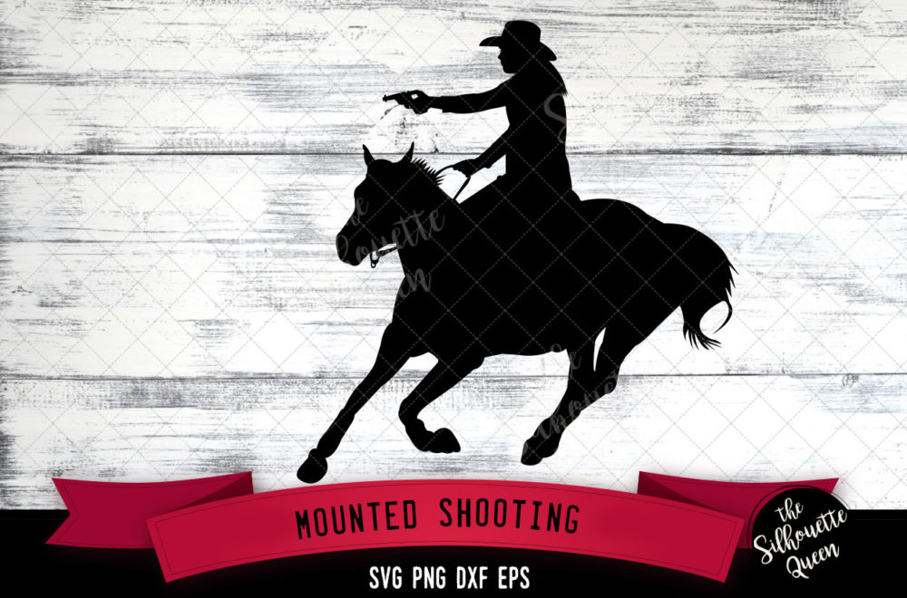 Mounted Shooting svg file