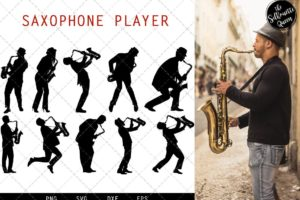Saxophone Player svg file