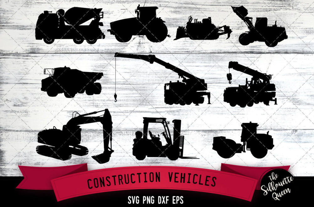 Construction Vehicles svg file