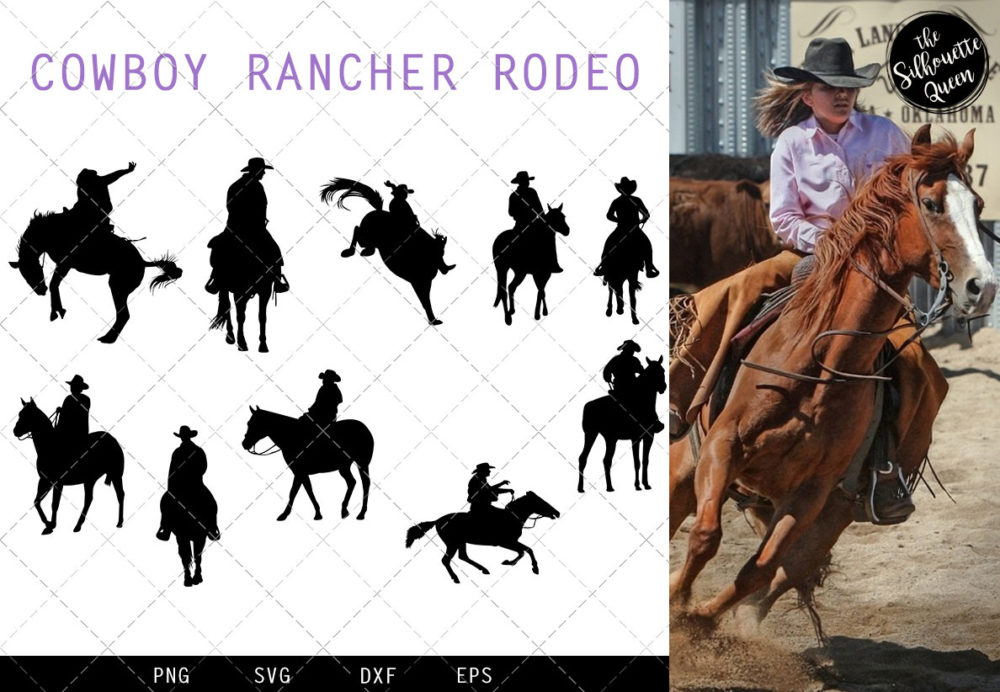 Cowboy Rancher Rodeo svg file