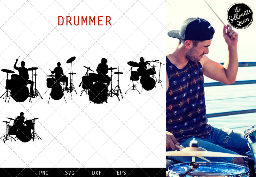 Drummer svg file