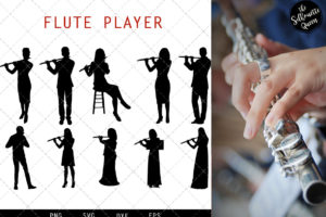 Flute Player svg file