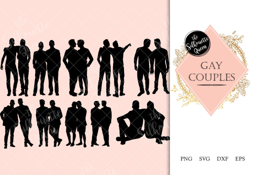 Gay Couple svg file