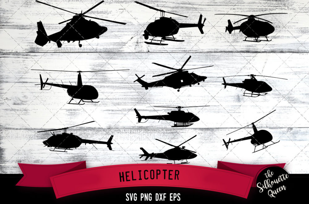 Helicopter svg file