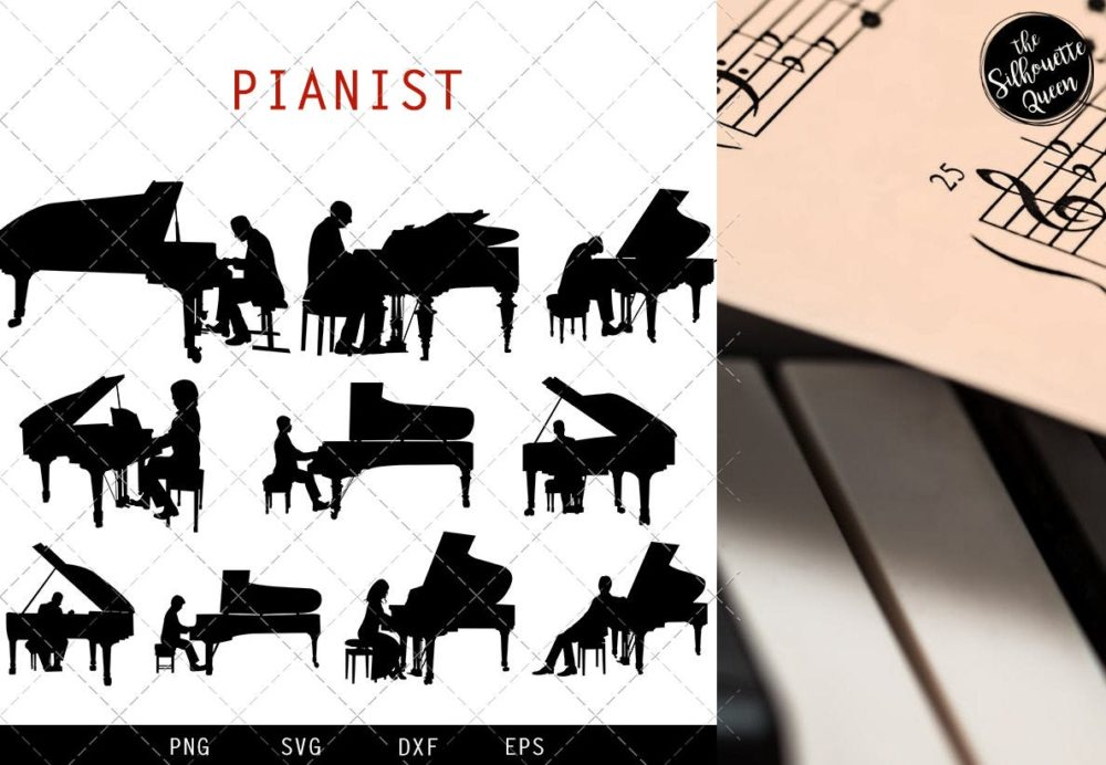 Pianist svg file