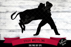 Steer Wrestling svg file