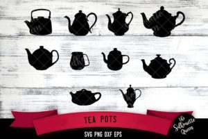 Tea Pots svg file