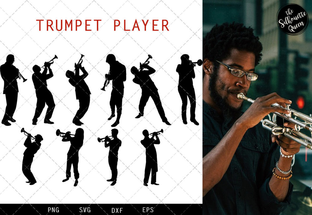 Trumpet Player svg file