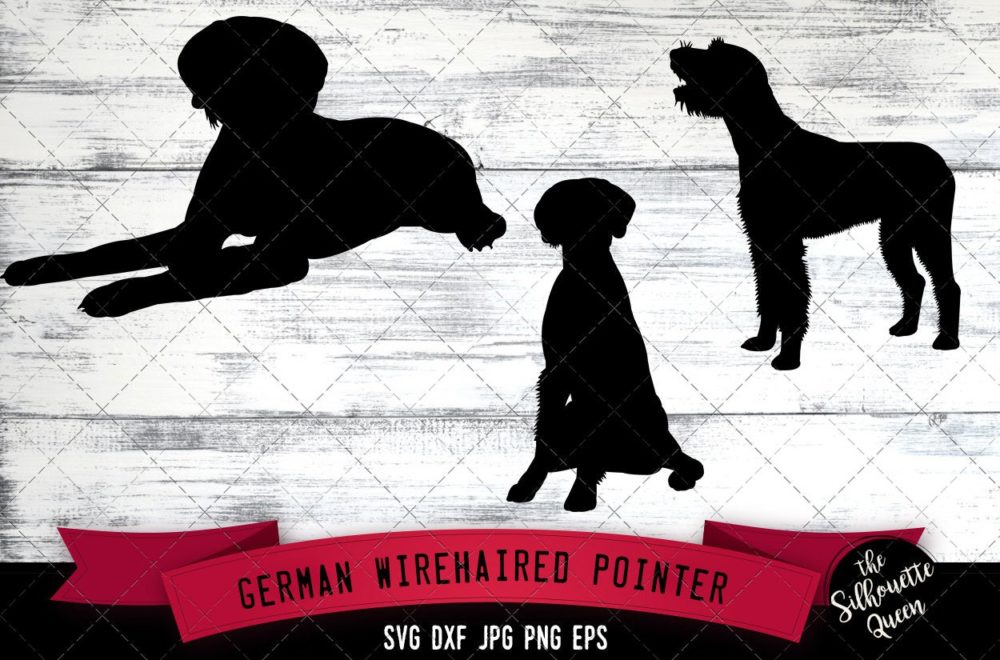 German Wirehaired Pointer SVG Files