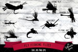 Fly Fishing Flies Svg