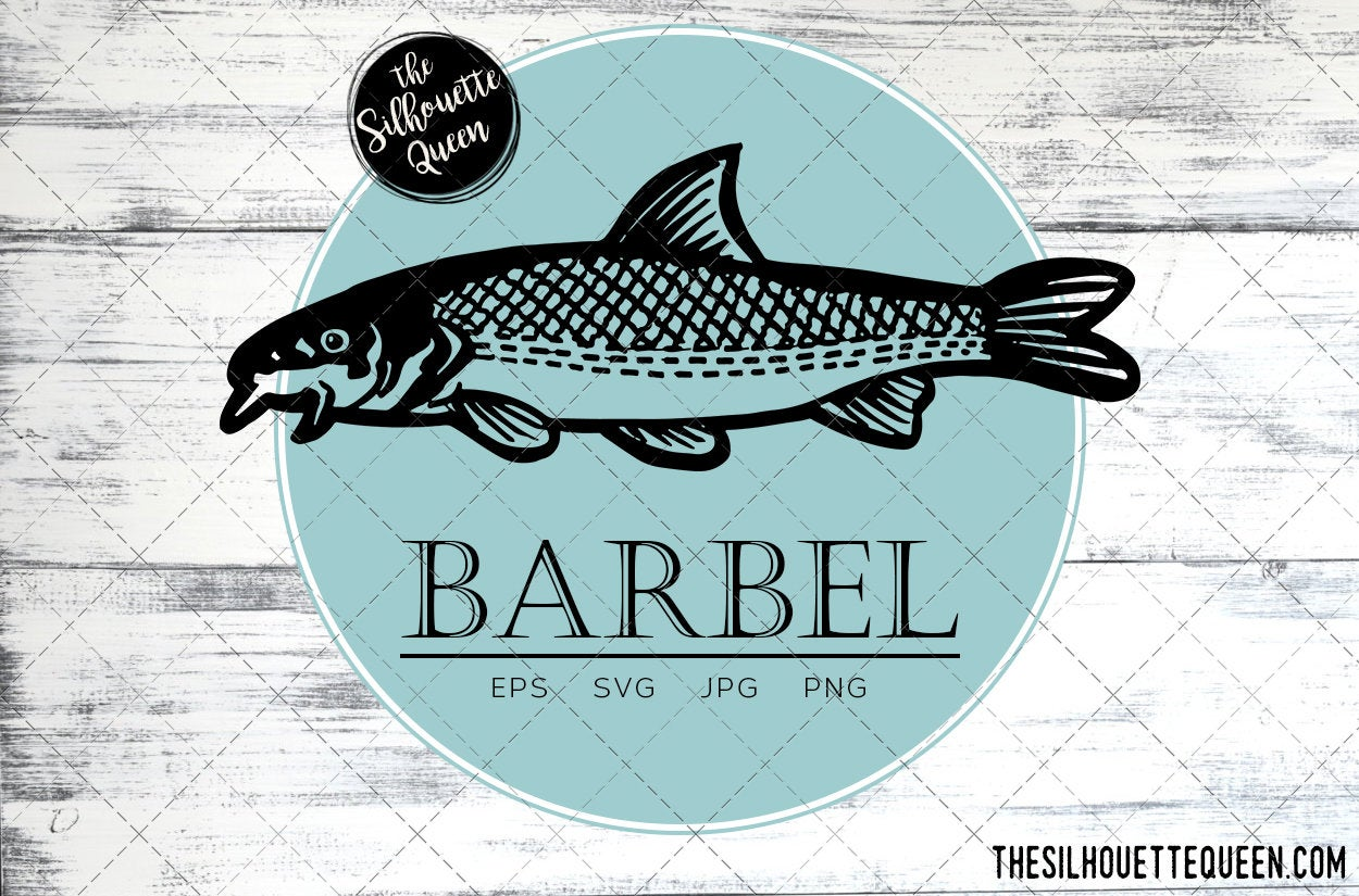 Download Barbel Fish Svg Design Files Hand Drawn Fishing Vector Clipart Cricut Silhouette Cameo Png Eps The Silhouette Queen