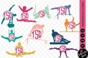 Gymnastics Men Svg Monogram