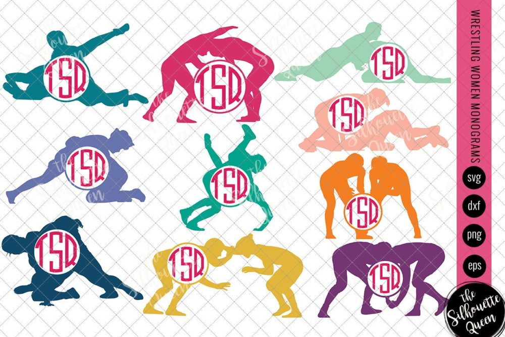 Wrestling Svg Monogram