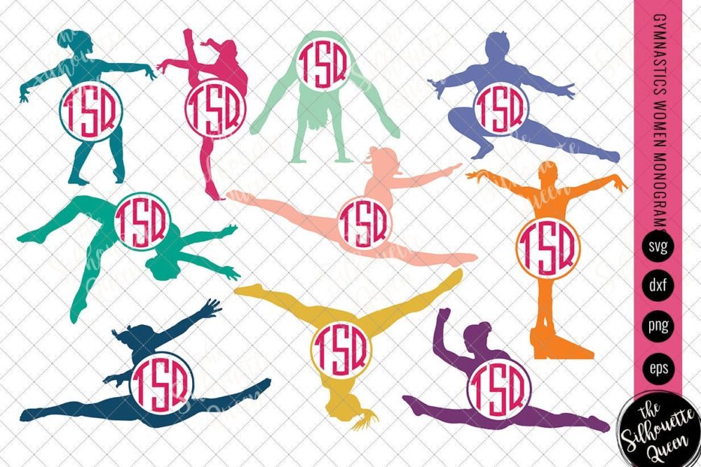 Gymnastics Svg Monogram
