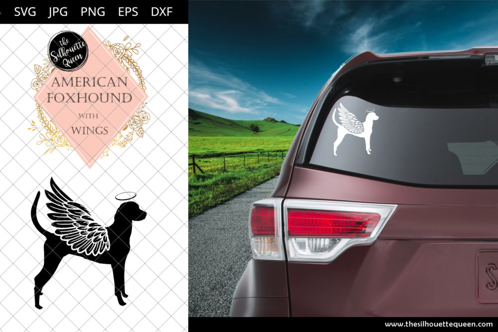 American Foxhound #5 with Wings SVG