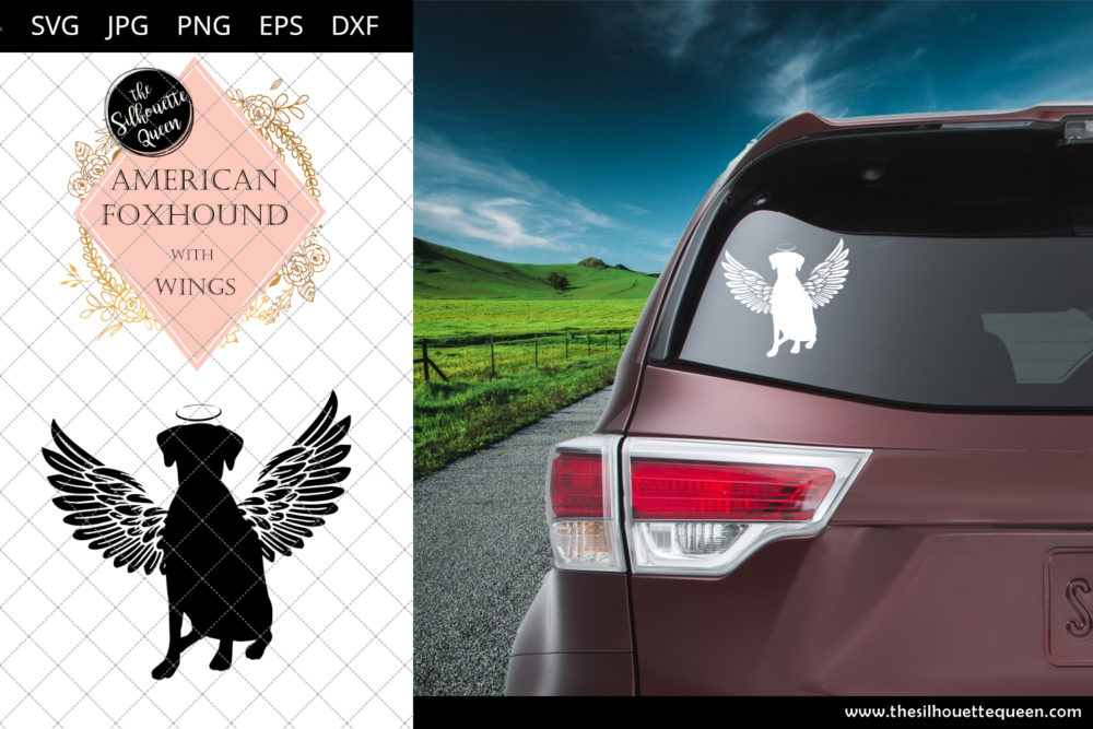 American Foxhound #6 with Wings SVG
