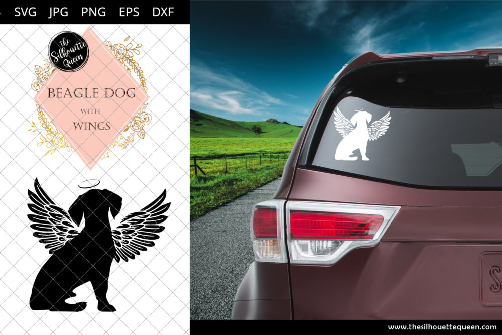 Beagle Dog #8 with Wings SVG