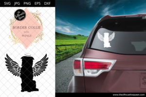 Border Collie #3 with Wings SVG