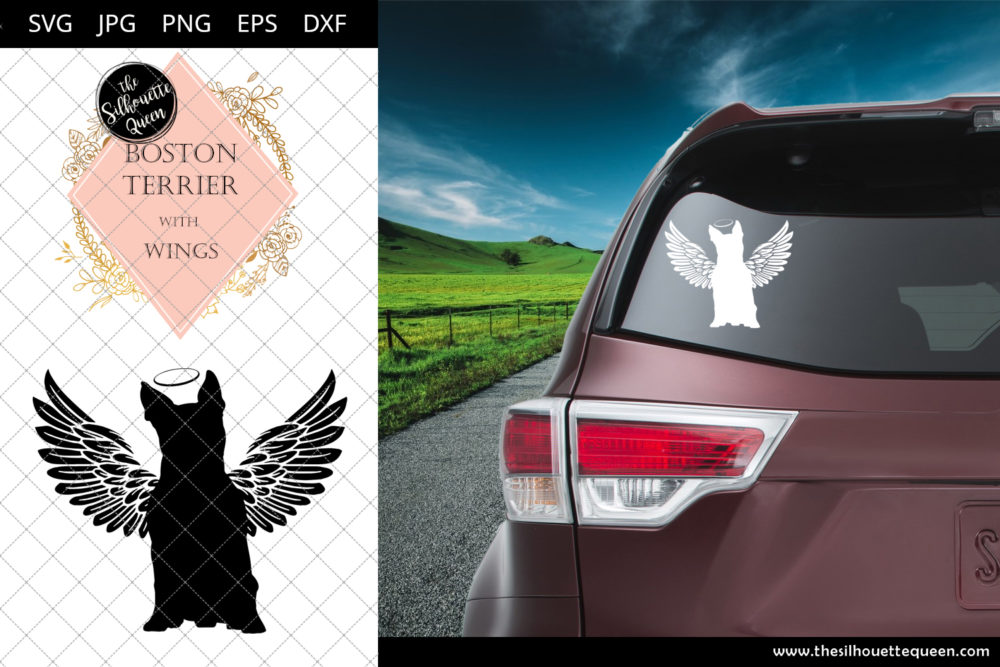 Boston Terrier #4 with Wings SVG