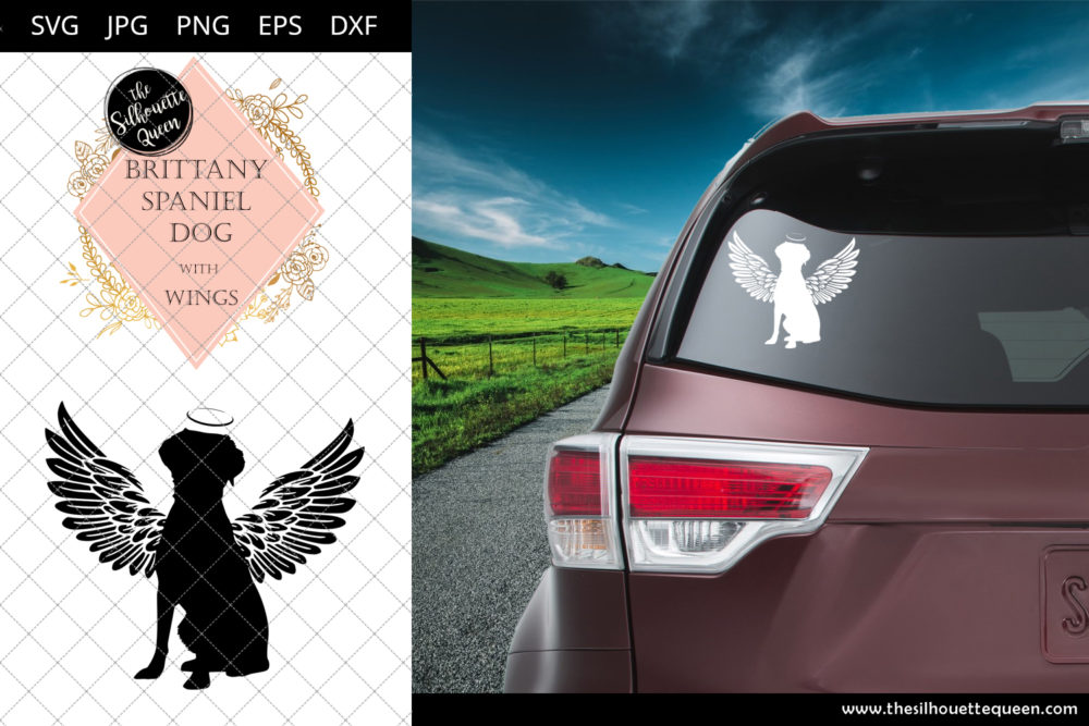 Brittany Spaniel Dog #2 with Wings SVG