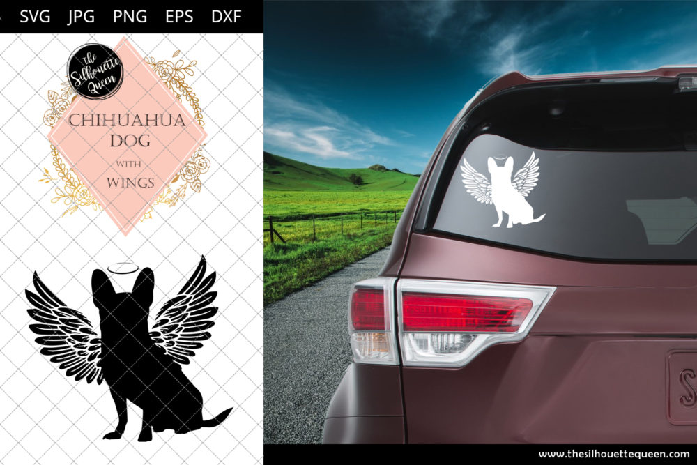 Chihuahua Dog #8 with Wings SVG