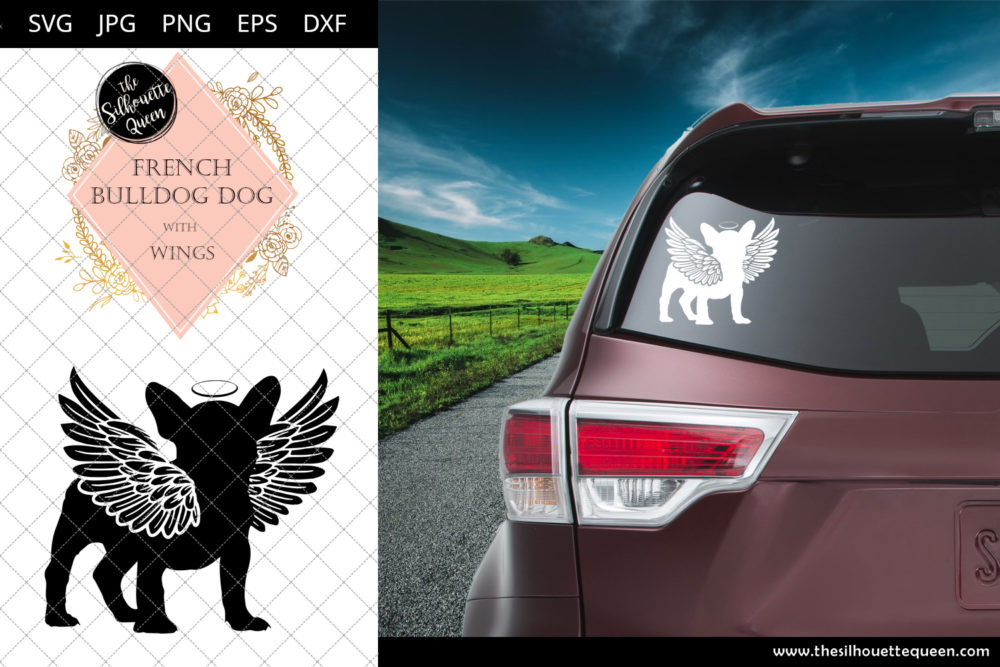 French Bulldog Dog #10 with Wings SVG