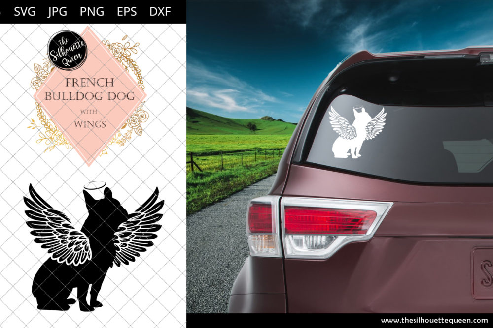 French Bulldog Dog #9 with Wings SVG