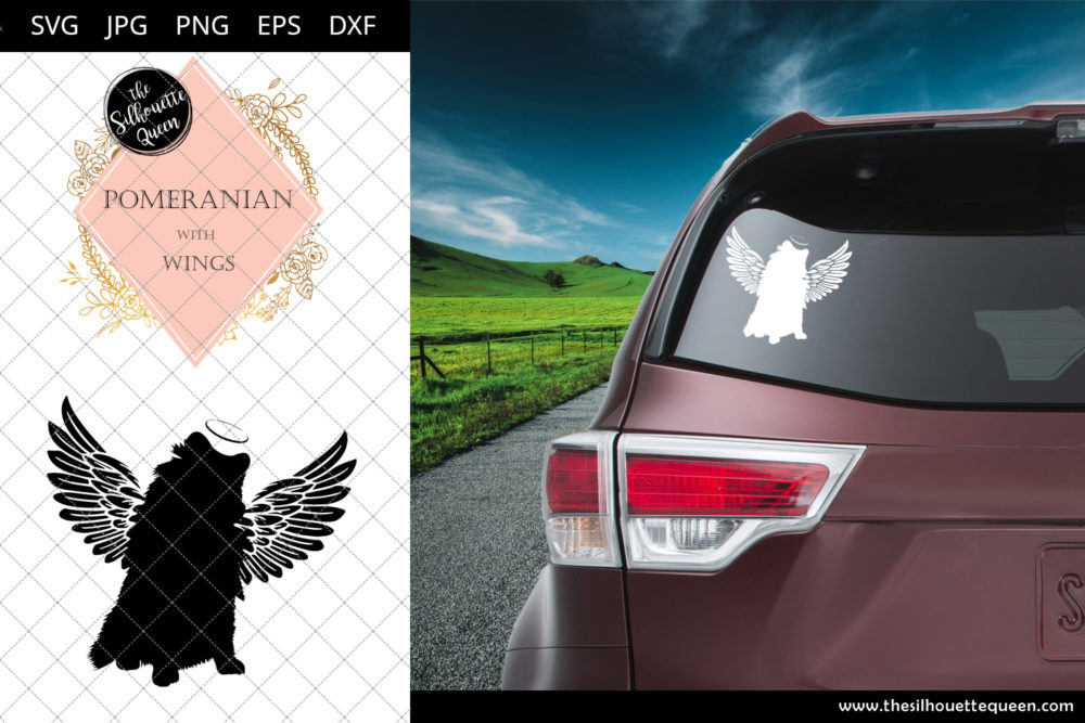 Pomeranian #4 with Wings SVG