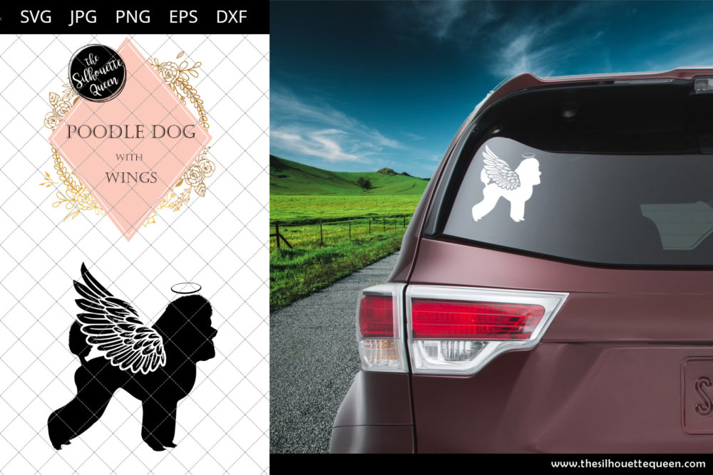 Poodle Dog #2 with Wings SVG
