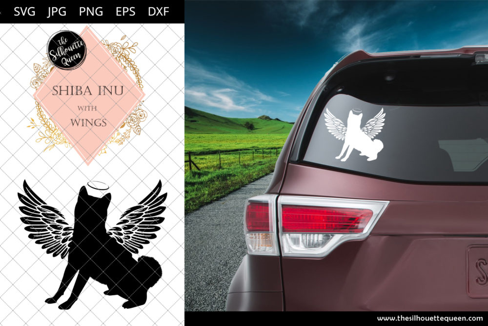 Shiba Inu #7 with Wings SVG