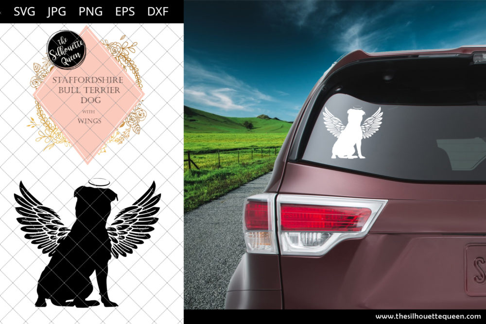 Staffordshire Bull Terrier Dog #10 with Wings SVG