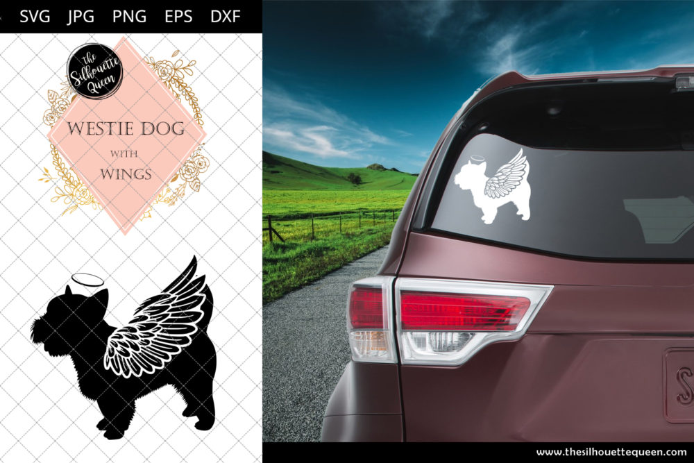 Westie dog #2 with Wings SVG
