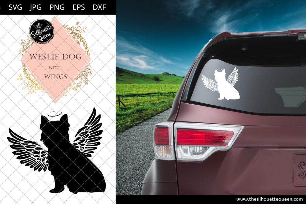 Westie dog #8 with Wings SVG