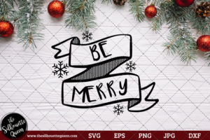 Be-merry Saying SVG | Christmas SVG | Holiday SVG | Holiday Saying Jpg Eps Dxf Png Cut File for Cricut Clipart Silhouette