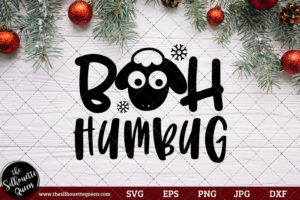 Bah Humbug Saying SVG | Christmas SVG | Holiday SVG | Holiday Saying Jpg Eps Dxf Png Cut File for Cricut Clipart Silhouette