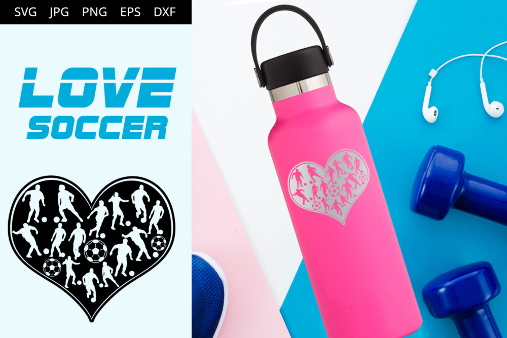 Soccer Love SVG Cut File Design